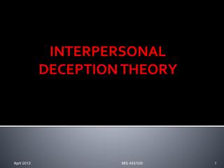 trickery and deceit characterized the relationship of theory