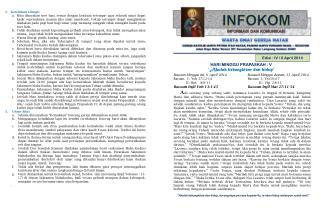 Edisi :  IV / 6 April 2014