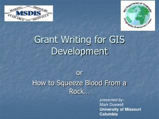 Grant Writing for GIS Development