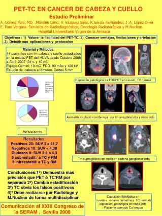 PET-TC EN CANCER DE CABEZA Y CUELLO Estudio Preliminar