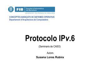 Protocolo IP v .6