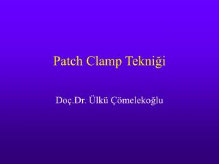 Patch Clamp Tekni?i