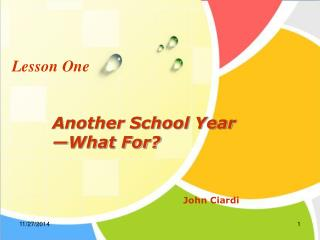Another School Year �What For?