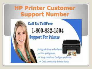 HP Printer Customer Support Number 1-800-832-1504