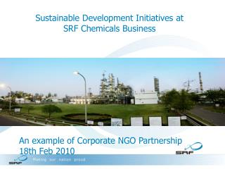 Sustainable Development Initiatives at SRF Chemicals Business
