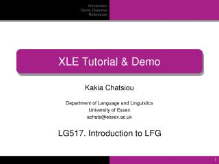 Kakia Chatsiou Department of Language and Linguistics University of Essex achats@essex.ac.uk