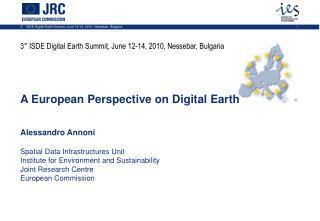 3° ISDE Digital Earth Summit, June 12-14, 2010, Nessebar, Bulgaria