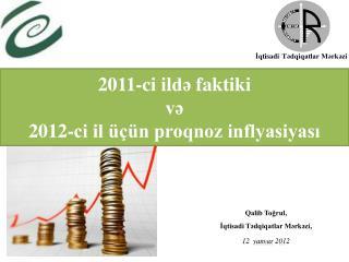 201 1 -c i il də faktiki və 2012-ci il üçün proqnoz inflyasiyası