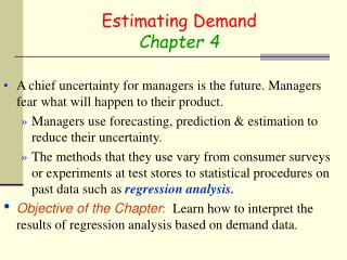 Estimating Demand Chapter 4