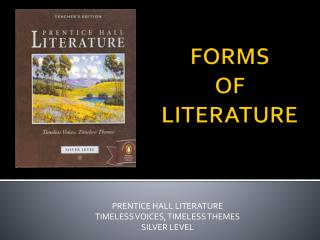 FORMS OF  LITERATURE