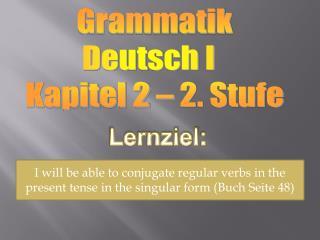 Lernziel :
