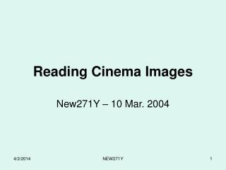 Reading Cinema Images