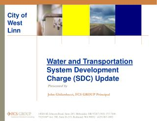 Water and Transportation  System Development Charge (SDC) Update