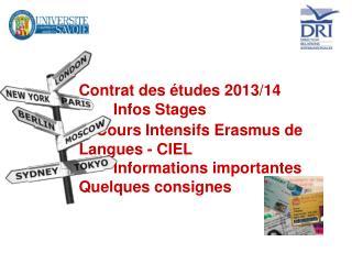 Vos contacts à la Direction des Relations Internationales IAE, IUT Chambéry, FD