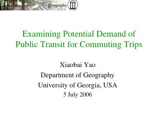 Examining Potential Demand of Public Transit for Commuting Trips