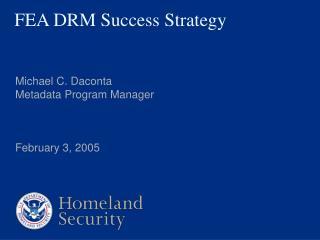 FEA DRM Success Strategy
