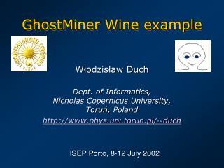 GhostMiner Wine example