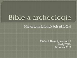 Bible a archeologie