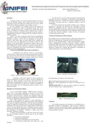 Ferramenta para desenvolvimento de Protocolos de Comunicação Serial Portáteis
