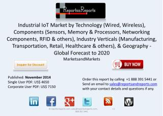 Industrial IoT Market Growth, Trends & Opportunities to 2020