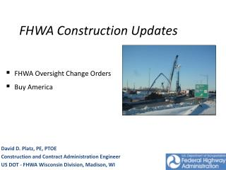 FHWA Construction Updates