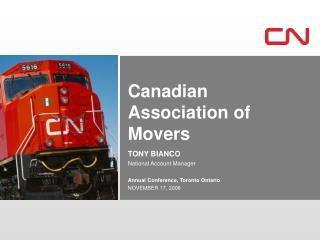 Annual Conference, Toronto Ontario NOVEMBER 17, 2008