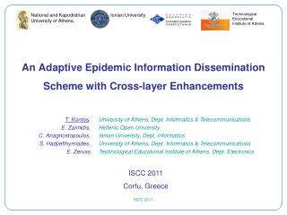 An Adaptive Epidemic Information Dissemination Scheme with Cross-layer Enhancements