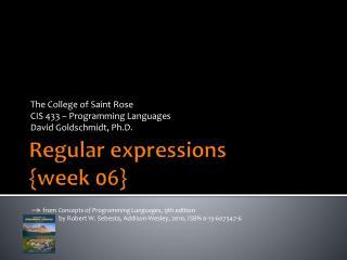 Regular expressions {week  06}