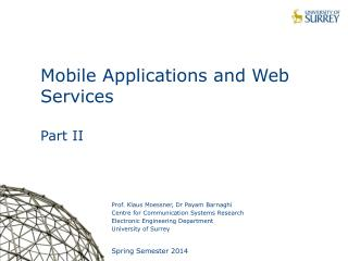 Mobile Applications and Web Services  Part II