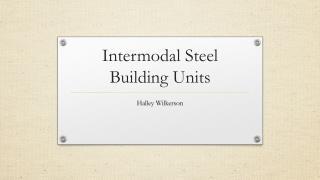 Intermodal Steel Building Units