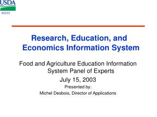 Research, Education, and Economics Information System