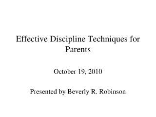 Effective Discipline Techniques for Parents