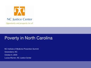 Poverty in North Carolina