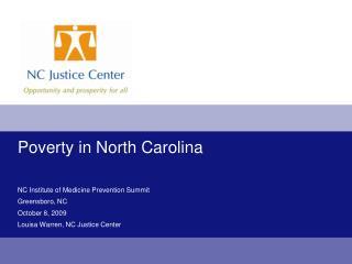 Poverty in North Carolina