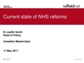 Current state of NHS reforms