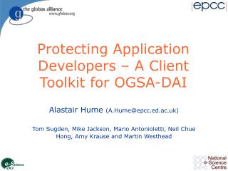 Protecting Application Developers – A Client Toolkit for OGSA-DAI
