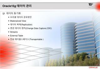 Oracle10 g 데이터 관리