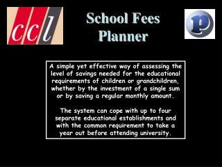School Fees Planner