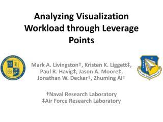 Analyzing Visualization Workload through Leverage Points
