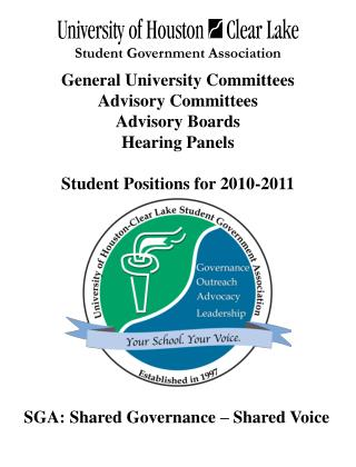 General University Committees Advisory Committees Advisory Boards  Hearing Panels