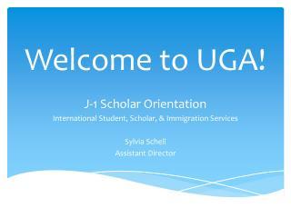 Welcome to UGA!
