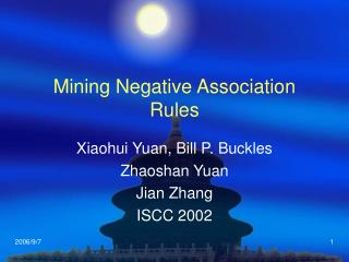 Mining Negative Association Rules