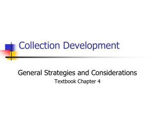 Collection Development