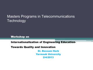 Masters Programs in Telecommunications Technology