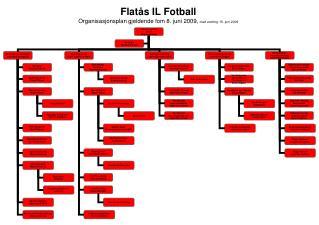 Flatås IL Fotball Organisasjonsplan gjeldende fom 8. juni 2009,  med endring 15. juni 2009