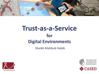 Trust-as-a-Service for  Digital Environments