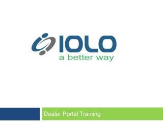 Dealer Portal Training