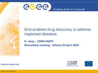Grid-enabled drug discovery to address neglected diseases