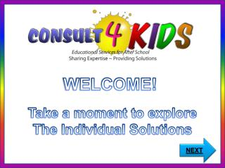 WELCOME!  Take a moment to explore The Individual Solutions