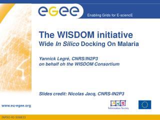 Slides credit: Nicolas Jacq, CNRS-IN2P3
